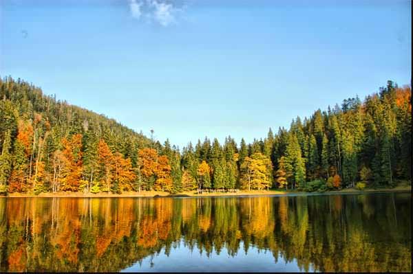 Самое высокогорное озеро Карпат.