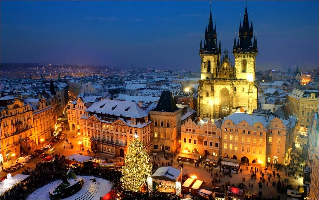 Новый год и зимние праздники в Праге.