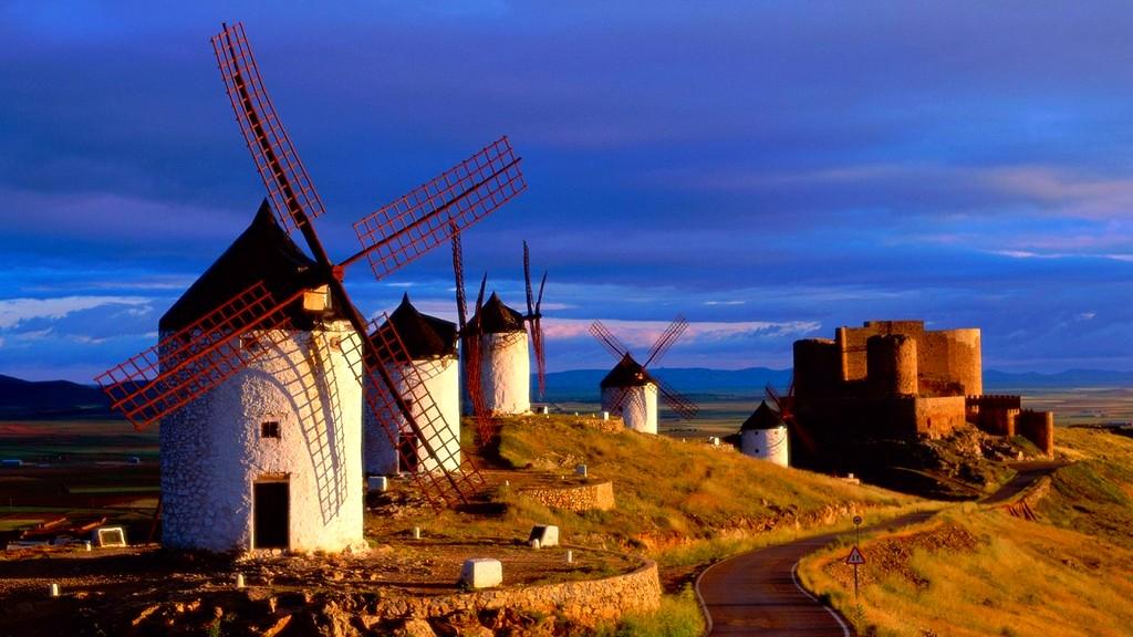 Испания мельницы Дон Кихота.