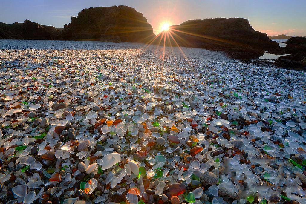 Фотоотчет: Стеклянный пляж, Калифорния