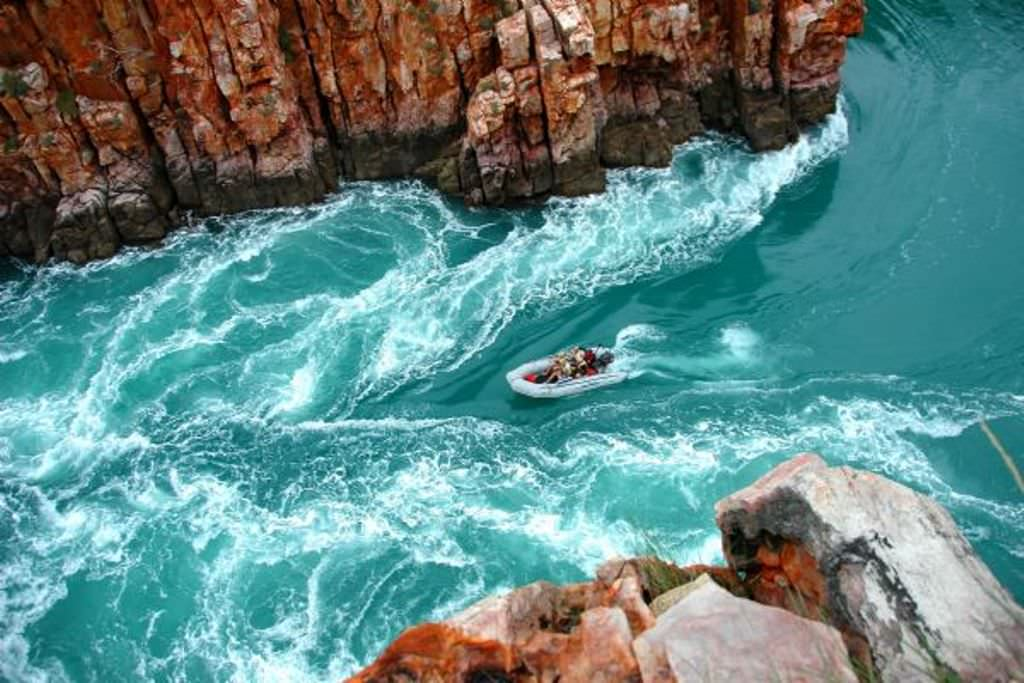 Бухта Талбот на западе Австралии и горизонтальные водопады